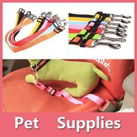 Wholesale Dog Hair Bows Clips - PET DOG CAT CAR SEAT BELT HARNESS RESTRAINT CHARM LEAD ADJUSTABLE TRAVEL CLIP WITH 7 COLORS