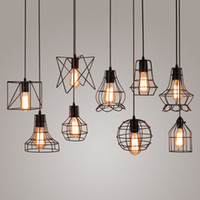 Wholesale Birdcage Light Fixtures   New Arrivals Retro Iron Pendant Light  Loft Lamps E27 Birdcage Vintage