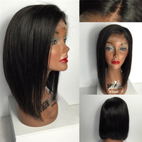 Wholesale Human Lacefront Wigs - Fashion Glueless Full Lace Wigs Short Human Hair Lacefront Wigs Malaysian Wig For Black Women Baby Hair