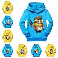 Wholesale Girls Top Nova - Kids minions Clothing 2016 New Autumn children Hoodies boys minion girls nova baby toddler hoodies Autume boy tops clothes coats Outwear