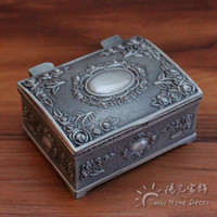 Wholesale Tin Case Design - 100pcs lot FREE Express Shipping Fashion Metal Jewelry Case trinket box Vintage Carved Flower Design Tin-alloy Box SMALL size