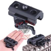 Wholesale Picatinny Mount Bipod - 1PCS Quick Detach Release Mount Adapter 20mm QD Bipod Mount Sling Scope Picatinny Rail Hunting Gun Accessories Heavy Duty
