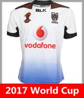 Wholesale National Hot - Hot sales 2017 World Cup Jersey FIJI rugby shirt 17 18 fiji rugby Jerseys NRL National Rugby League BATI shirts s-3xl