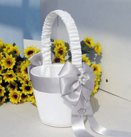 Wholesale Flower Girl Baskets for Wedding Favors Basket Bridesmaid Petal Basket Wedding Accessories Photography Props Bridal Favors New