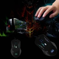 Nouveau 6 Boutons USB Optical Wheel Wired Gaming Mouse Pro Gamer Mouse for Laptops souris bon marché de gros pour ordinateur portable hp