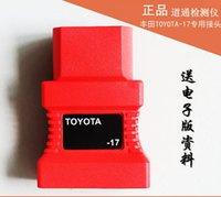 Wholesale Toyota Obd Ii Tester - 100% Original Autel Auto adaptor For Toyota -17 Pin to 15 Pin OBD II Connector Adapter