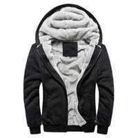 Wholesale Thick Warm Fleeces Mens - Brand Clothing 2016 Mens Hooded Hoodies Men Sweatshirt Fashion Hoody Thick Warm Hoodie Cotton Slim Male Coat Outerwear Plus Size