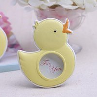 Wholesale wholesale photo frames favors - Baby Souvenirs of My Little Duckling Baby Duck Photo Frame For Kids Birthday Party Decoration Gift And Favors ZA5009