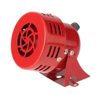 "Wholesale Air Drive Motor - DC 12V 3"" Automotive Air Raid Siren Horn Car Truck Motor Driven Alarm Red Universal Car Horn for Pickup Truck order<$18no track"