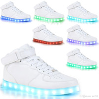Wholesale Usb Light Shoes - 2016 new Unisex USB LED Lights Luminous Shoes Sportswear Men Women Lace Up Casual Sneaker led shoes lot drop shipping