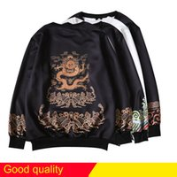 Wholesale Chinese High Collar Jacket - hip hop luxurious brand Jacket 3D printing dragon T shirt Men High Quality Chinese elements phoenix Sweatshirt Pullover Medusa shirts