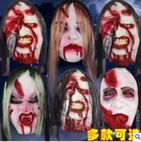 Wholesale Halloween Costume Villains - Halloween masks Adults Men Women mask Cosplay costume mask Scared villain mask WYN M004