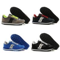 Wholesale low heel fashion boots - Fashion Boots Saucony Original Shoes Jazz Men's Originals Jess Men Low pro breathable Shoes Sale Size EU40-44