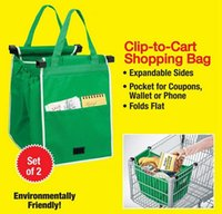 Wholesale Weaves Retail Price - Factory Price Environmentally Friendly Grab Bag Clip To Cart Shopping Bags 2 Pack With Retail Box