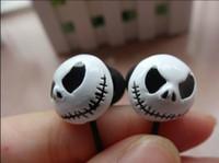 Wholesale Headphones Face - Face Halloween skull ghost earphones Headset Headphone without mic.