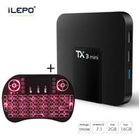 ingrosso android tv quad tastiera della scatola-Mini scatola TV Android TX3 con Air Mouse KeyBoard 2G 16G Internet 4K Media Player S905W Quad Core Set Top IPTV Box