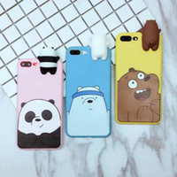 Wholesale Panda Phone Case Iphone - Novelty 3D Panda Polar Bear Brown Bears Silicone Phone Case Shockproof Protective Cellphone Cases for IPhone 6 6s 6plus 6splus 7 7plus