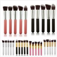 Wholesale Stipple Powder Brush - Professional Powder Blush Brush Facial Care Facial Beauty Cosmetic Stipple Foundation Brush Makeup Tool 5pcs set in stock 120 set