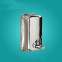 Wholesale Bathroom Liquid Soap Accessories - Soap Dispenser Manual Stainless Steel Liquid Hand Free Sanitizer 500ML Champagne Bathroom Accessories free shipping good quality