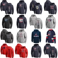 Wholesale Cheap Kids Jackets - Hot Sale Custom Mens Womens Kids Columbus Blue Jackets Cheap Best Stitched Black Grey Navy Red Ice Hockey Hoodies with Any Name&Any No.