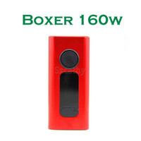 New BOXER 160W Kit TC 18650 Battery Boxer Box Mod BOXER TC160 E-cigs Vapor Mod com TC VV VW Kits de Apoio 0.06ohm Bobinas E-cigarro