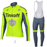 Wholesale Long Sleeve Cycling Jersey Orange - Cheep Tinkoff Cycling Jersey Bike Bicycle Anti Bacterial Long Sleeves Mountaion MTB Jersey Clothing bicycle clothing Size XS-4XL