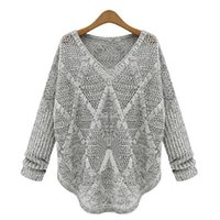Wholesale wool jersey mujer for sale - Group buy woman sweater winter v neck long sleeve women sweater womens pullover gray pullover jersey mujer pull femme sudaderas