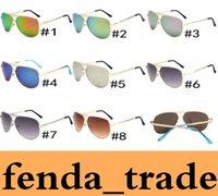 Wholesale Cat Party Favors - Fashion Womens Sunglasses Michael Metal Frame Outdoor Dazzle colour pink lense UV Designer Party Favors Ladies Eyewear 5001 MOQ=10pcs