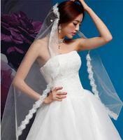 Wholesale wedding veil fingertip tier resale online - 2016 New Dress Bride Wedding Accessories Elegant Long Veil White Ivory Wedding Veil One tier Fingertip Veils Wedding Veil Comb