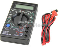 Wholesale Ac Dc Electrical - Mini Digital Multimeter with Buzzer Voltage Ampere Meter Test Probe DC AC LCD good quality low price
