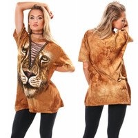 Suit-Kleid Sexy Deep V Animal Totems Printing über Knie Mini Club Kleid Maxi Bekleidung Damen für Frauen Casual 2016 Long Style T-Shirt