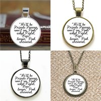 Wholesale Friend Quotes - 10pcs We'll be Friends Forever and Piglet Quote Shakespeare Glass Necklace keyring bookmark cufflink earring bracelet