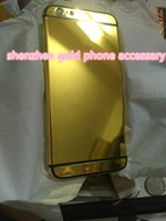 24K Gold Plating Back Housing Cover Case Skin Battery para iPhone 6G 6s plusLuxury Edição limitada 24Kt edição Bezel Frame Faceplate