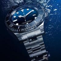 мужские часы с голубым сапфиром оптовых-2019 новые мужские часы наручные часы керамическая рамка сапфировое стекло из нержавеющей стали d-синий sewdweller 116660 мужские часы бесплатная доставка