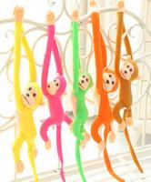 brinquedos de pelúcia de braço comprido venda por atacado-Brinquedos De pelúcia Macaco De Pano De Lã Colorida Macia Sesta Animal Bonito Do Bebê Crianças Macio Longo Macaco Screech Arm Brinquedo de Pelúcia