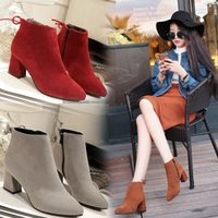 2017 Outono e Inverno Novas botas femininas de salto alto Bow Thick with Velvet Warm Boots Shoes Size Large Trade