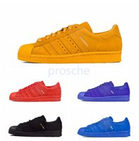 Wholesale Shoes Shanghai - Originals Superstar 80s City Series Running Shoes For Paris London New York Tokyo Shanghai 80s Black Blue Red Sport Sneakers Size Eur 36-44