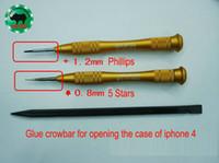 Wholesale phillips screwdriver repair resale online - 1 Set pieces Iphone Repair Tools Japan RHINO mm Torx mm Phillips Screwdriver and Glue Crowbar for Opening Case of Mobile