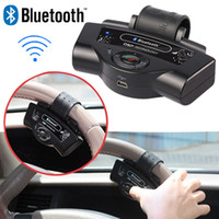 BT-8109B volante Bluetooth Car Kit vivavoce incorporato Microfono altoparlante 300mAh Li-ion Battery supporto Dual Standby TTS A2DP Funzione