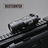 Wholesale Rail Guns - Tactical SureFire X300 Ultra Pistol Gun Light X300U 500 Lumens High Output Rifle Flashlight Fit 20mm Picatinny Weaver Rail