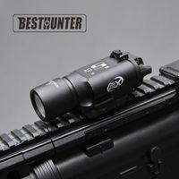 lanterna de picatinny rail venda por atacado-Tactical SureFire X300 Ultra Pistola Gun Light X300U 500 Lumens de Alta Potência Rifle Lanterna Fit 20mm Picatinny Weaver Rail