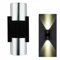 Wholesale Scattered Light - 2W LED Wall Light Sconce Decor Fixture light lamp with Scattering Light Metal Straight Stick Body Hall Porch Bulb Wash light