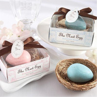blue egg bird - 2016 New Blue Bird Egg Soap White Hay Nest Wedding Baby Shower Favor Wedding Gifts For Bridemaids Party Favors Supplies Wedding Favors