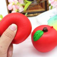 Wholesale Imitation Fruit - Apple imitation fruit Jumbo Squishy Slow Rising Pendant Phone Straps Charms Queeze Kid Toys Cute squishies Bread