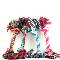 Wholesale Dog Rope Cotton - New Arrival Pet Dog Toys Dual Cotton Rope Dog Cat Bite Toy For Small Medium Large Pets Material Drop Shipping Random 100pcs  lot