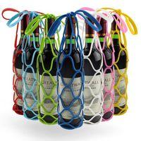Wholesale Basket Bottle - Practical Non-Slip Heat Resistant Dinning Mat Tableware Coaster Silicone Placemat Silicone Wine Bottle Basket Rack Cover CCA7723 100pcs