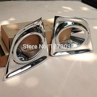Wholesale Fog Lamp For Toyota Corolla - For 2014 2015 Toyota Corolla ABS Chrome Front Fog Light Lamp Cover Trim Front Fog Light Cover Exterior Car Styling Accessories 2pcs