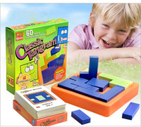 Wholesale Iq Puzzle Solutions - Classic Tangram IQ Puzzle Toys Brain Teaser Challenge and Solution Card Educational Soft Montessori children be creative interactive toy