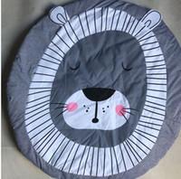 spieltiere spielen großhandel-Baby play ins matte cartoon tiere löwe spiel decke teppich teppich kriechende matte