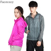 Оптом-Facecozy WomenMen Outdoor Summer Quick Dry FishingHunting Shirt Breathable с капюшоном Anti-UV TrekkingCamping Clothes